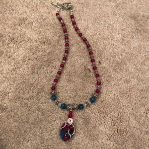 Beaded vibrant necklace